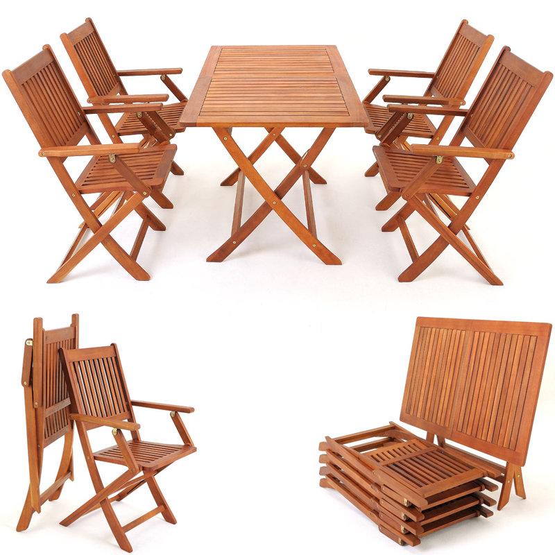 Meble Ogrodowe Rattanowe Zestaw Stoł 8 Krzeseł : MEBLE DREWNIANE OGRODOWE ZESTAW 1 STÓŁ + 4 KRZESŁA  OGRÓD  MEBLE [R