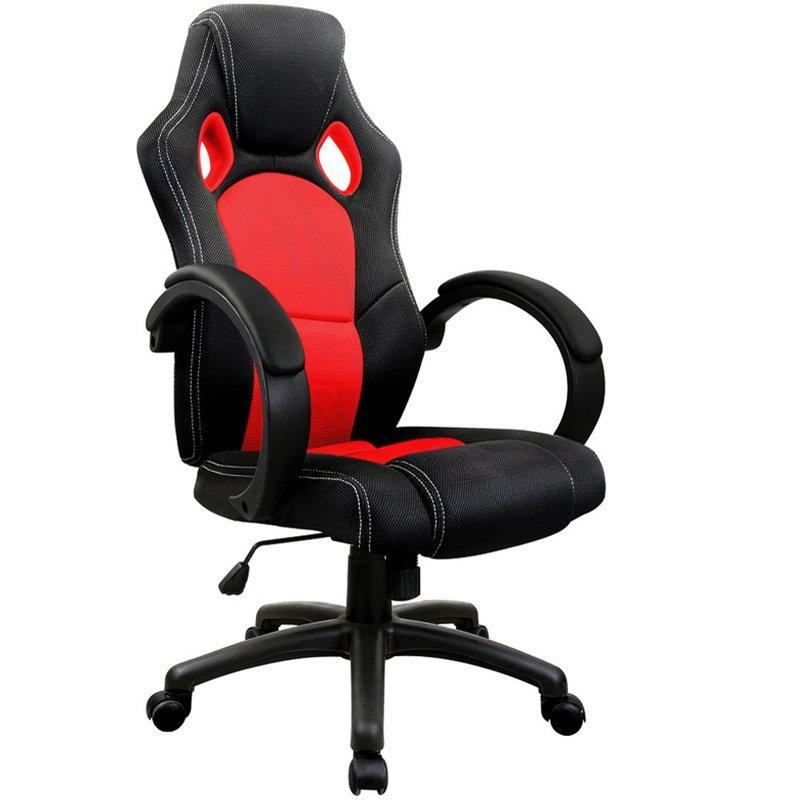 sportowy fotel biurowy kube kowy czerwony dom meble. Black Bedroom Furniture Sets. Home Design Ideas