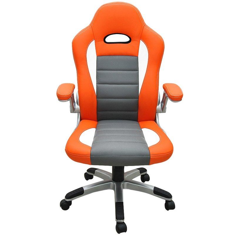 Sportowy fotel biurowy kube kowy pomara czowy dom for Chaise enfant voiture