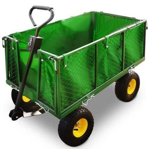 W zek transportowy 4 ko owy ogrodowy przyczepka ogr d for Brouette de jardin plastique