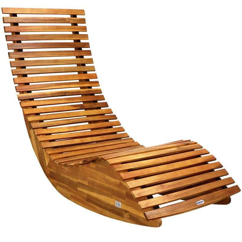 Drewniany LeŻak Ogrodowy Bujak Z Drewna Akacjowego Ogr 211 D