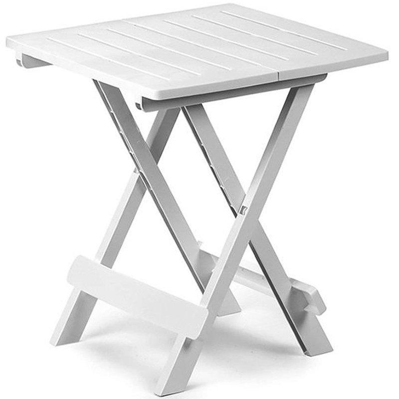 kompaktowy st sk adany stolik meble ogrodowe bia y. Black Bedroom Furniture Sets. Home Design Ideas