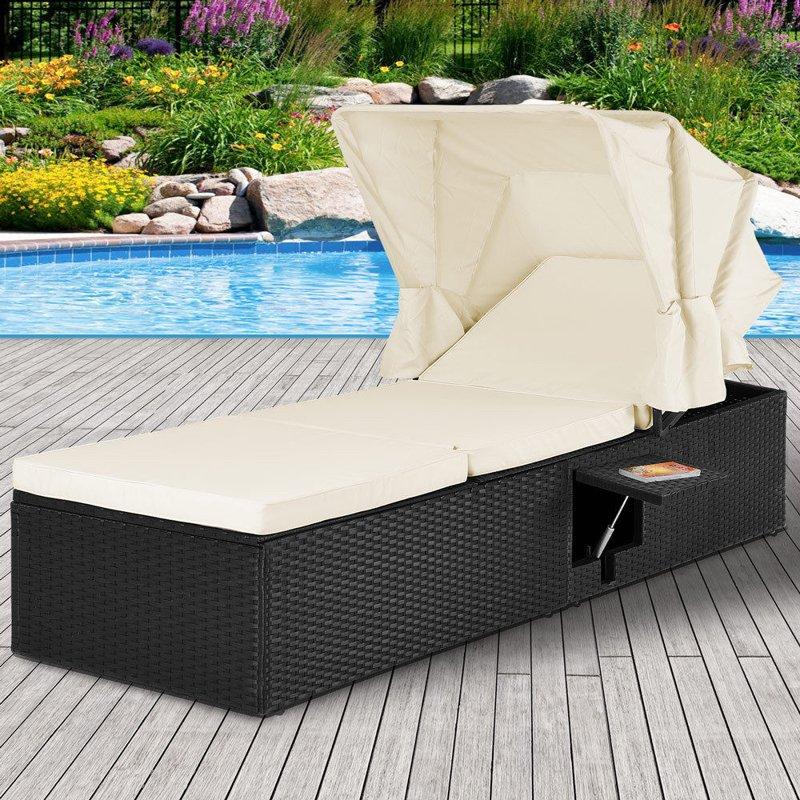 Leżak Ogrodowy łóżko Do Opalania Polirattan
