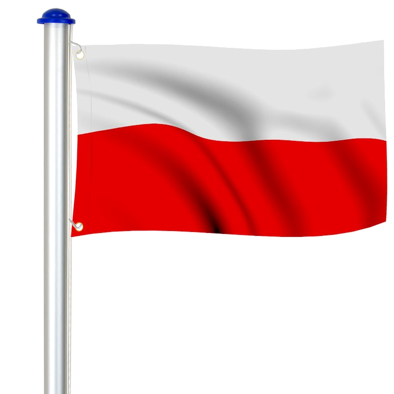 MASZT ALUMINIOWY FLAGOWY FLAGA POLSKI 6,5m   OGRÓD \ Flagi i maszty