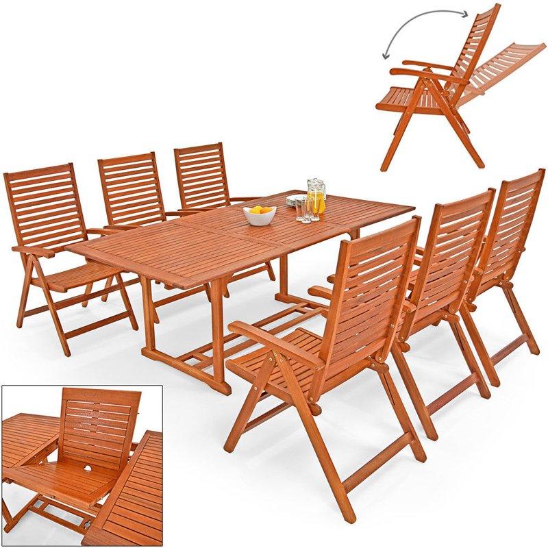 meble ogrodowe drewniane zestaw 1 st211� 6 krzese� ogr211d