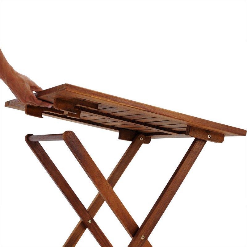 MEBLE OGRODOWE STÓŁ 2 KRZESŁA DREWNIANE SKŁADANE  OGRÓD  MEBLE OGRODOWE  Stoły i krzesła ...