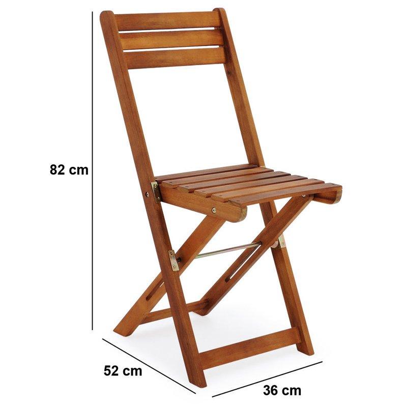 Meble Ogrodowe Stół 2 Krzesła Drewniane Składane