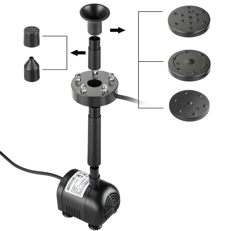 Pompa do oczka wodnego solarna fontanna led ogr d for Fontane da laghetto