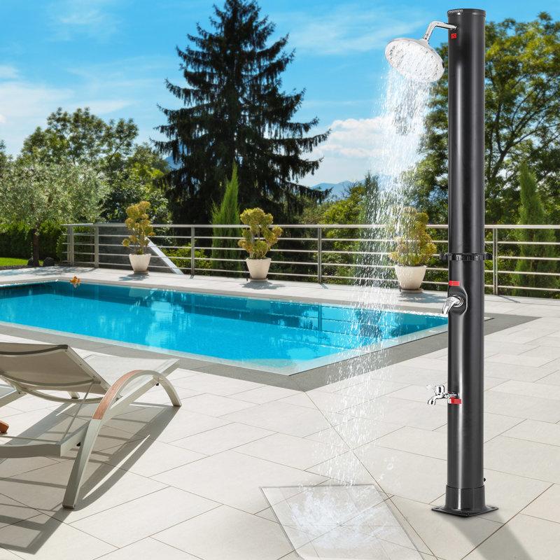Podłączenie węża ogrodowego do prysznica na zewnątrz