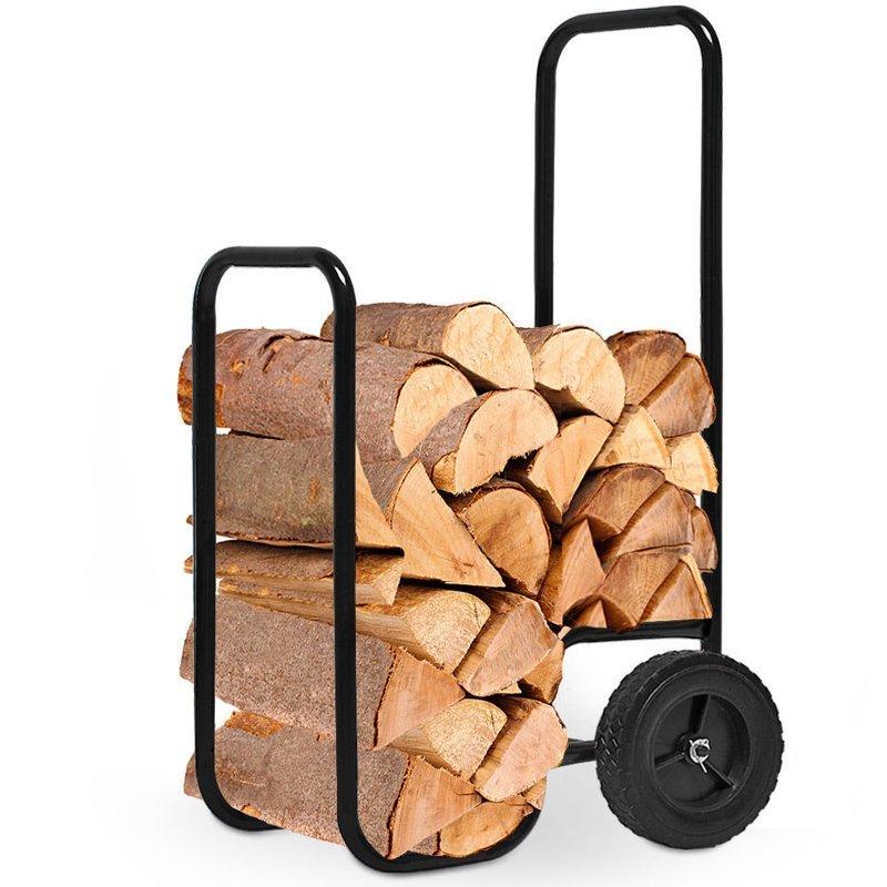 stojak kosz w zek na drewno kominkowe kominek dom. Black Bedroom Furniture Sets. Home Design Ideas