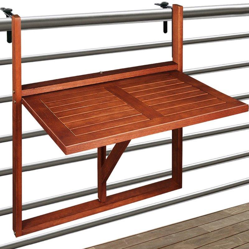 St balkonowy podwieszany drewniany sk adany ogr d for Table de cuisine suspendue