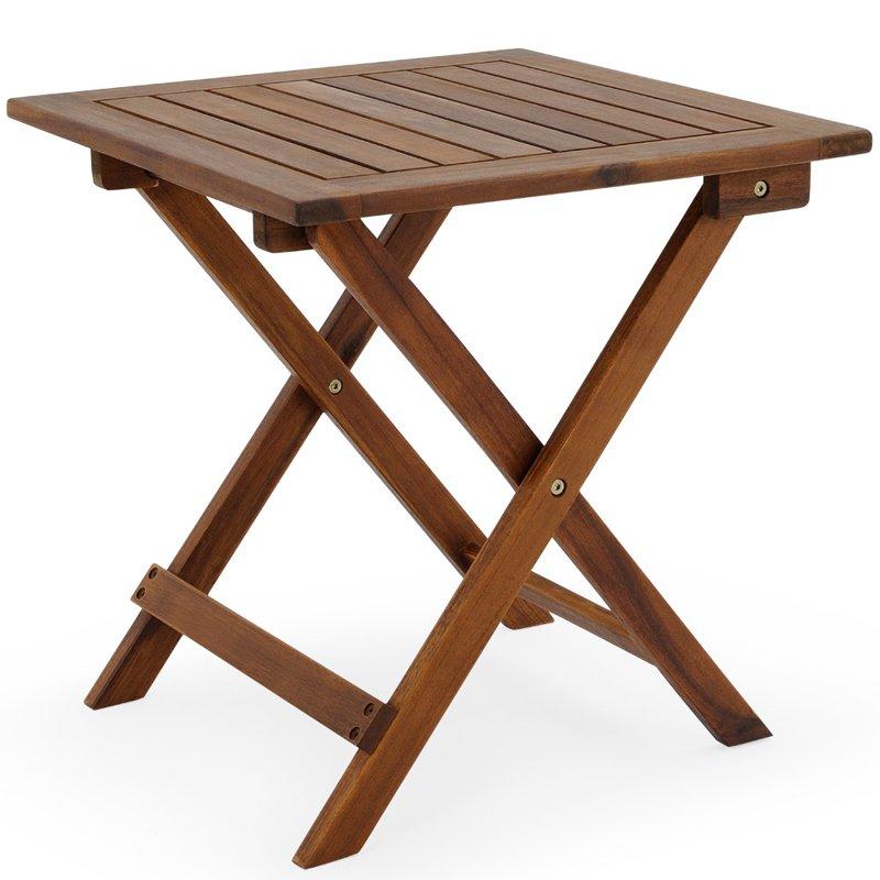 St sk adany stolik z drewna meble ogrodowe ogr d for Table pliante de salon