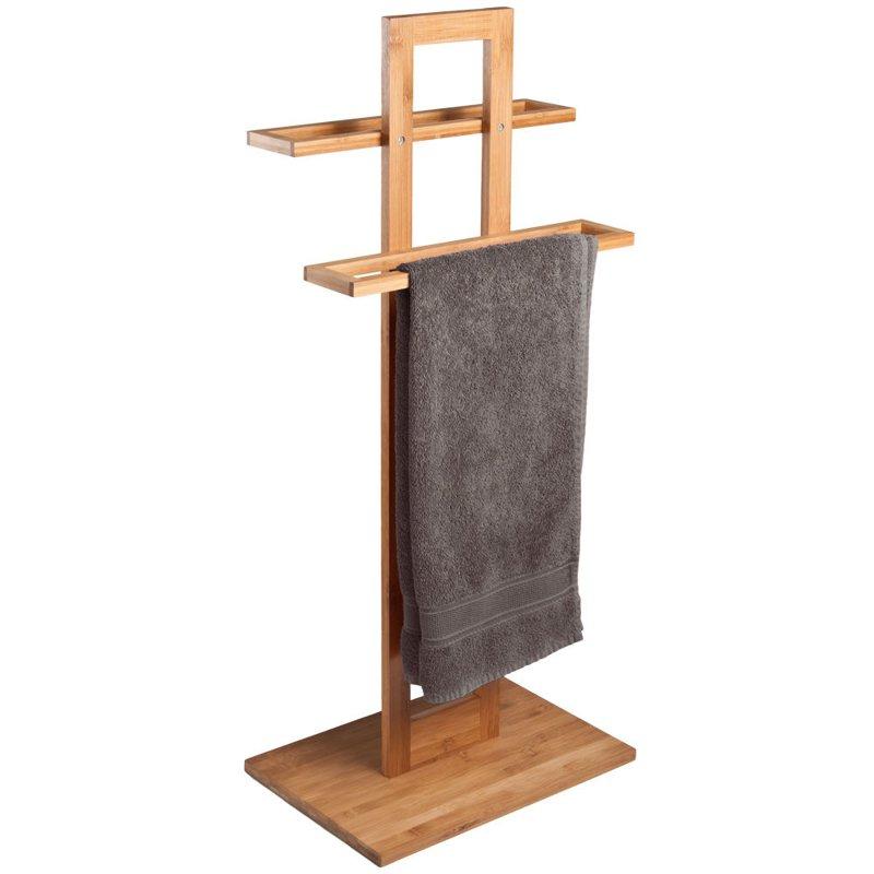Uchwyt na r czniki drewno bambusowe stojak wieszak dom wyposa enie azienka i toaleta - Handtuchhalter freistehend ...
